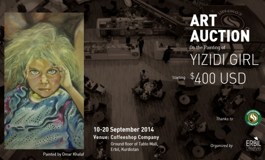 Art Auction on a Painting that tells a True Story of Yezidis Children