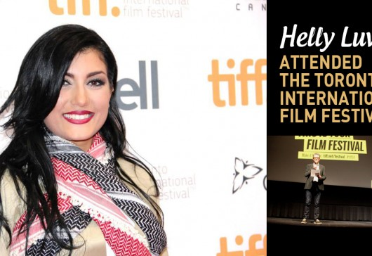 Helly Luv dressing Peshmerga's outfit at the Toronto International Film Festival